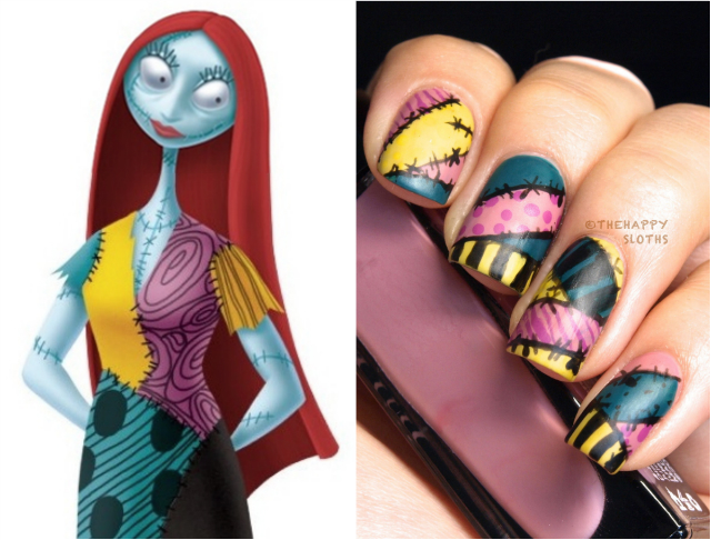 Nightmare Before Christmas Sally Nails