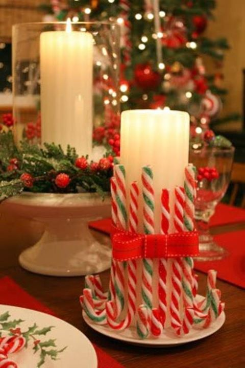 Christmas candles decoration ideas latest fashion 360 for Decorating ideas with candles
