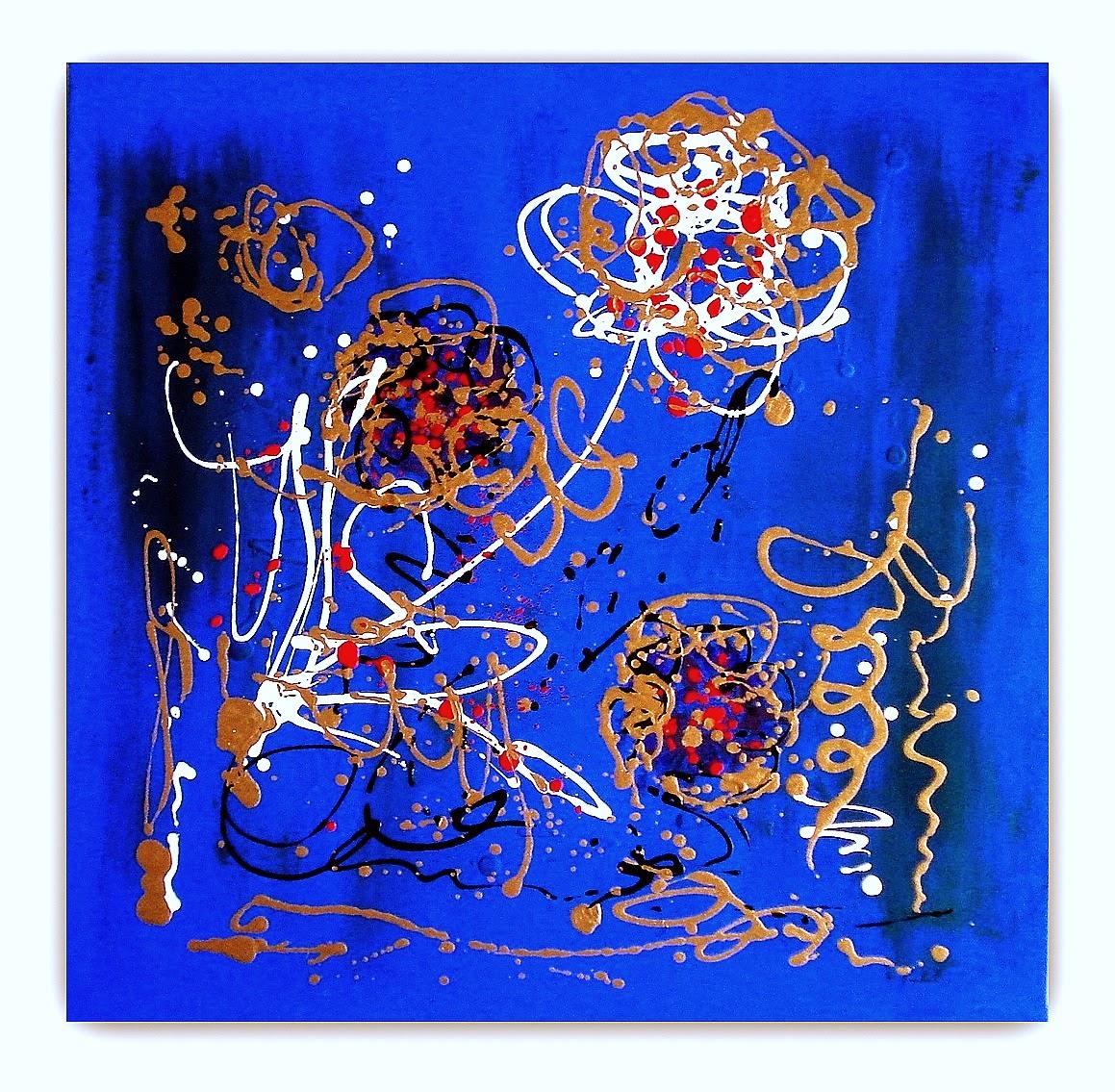 Quadri moderni astratti dipinti sanader art pittura for Quadri fiori famosi