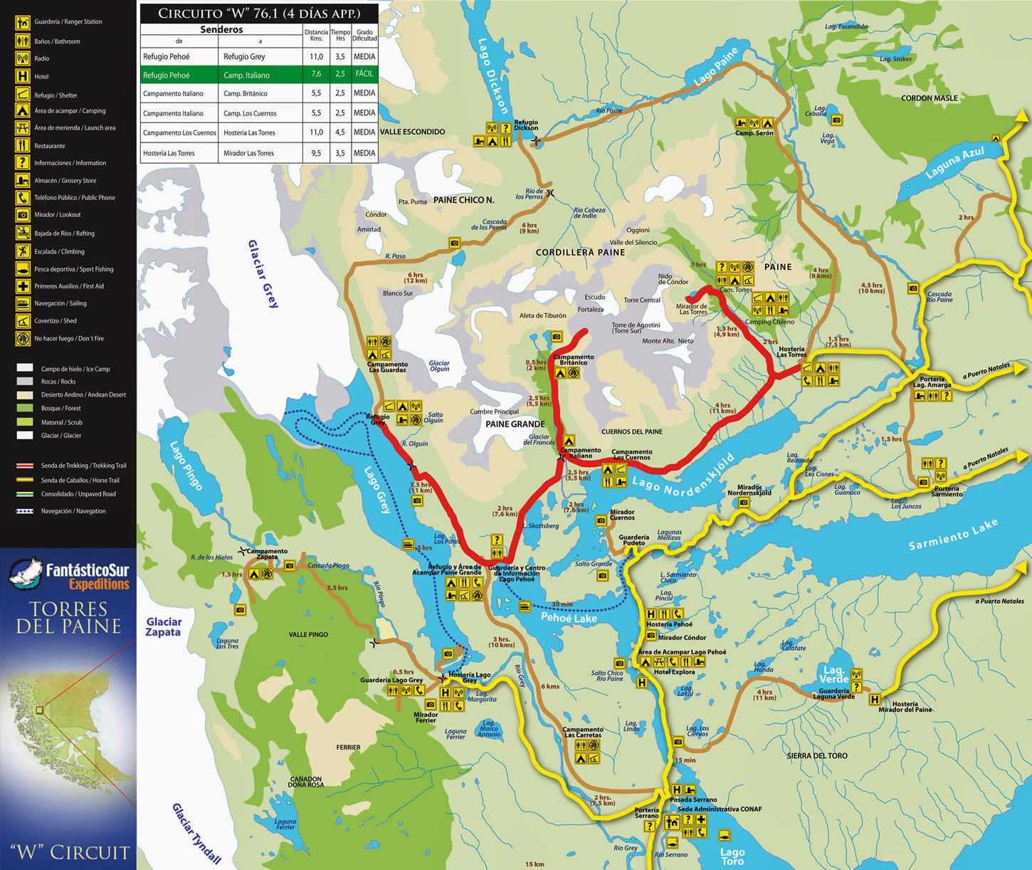Torres Del Paine National Park Chile Travelicious - Map argentina national parks