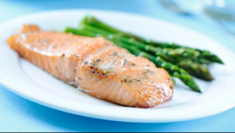 Fish, asparagus, cholesterol