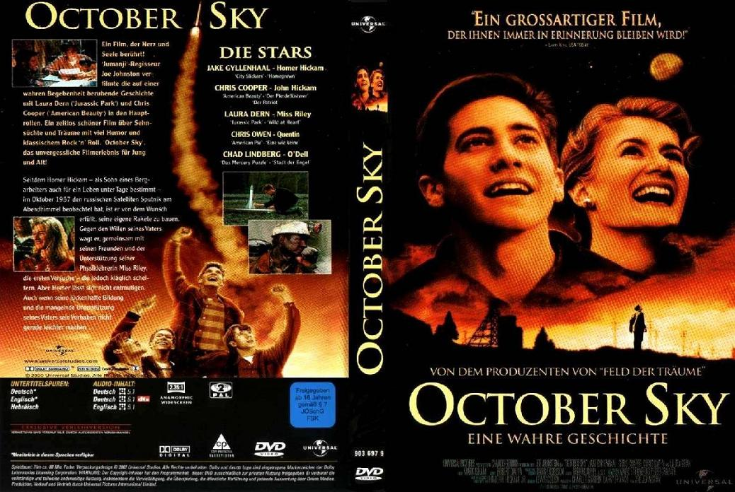 october sky john hickam Then: chris cooper joined october sky as john hickam, the father to gyllenhaal's homer appearing in american beauty the same year, cooper played the stern mine manager who is skeptical of homer.
