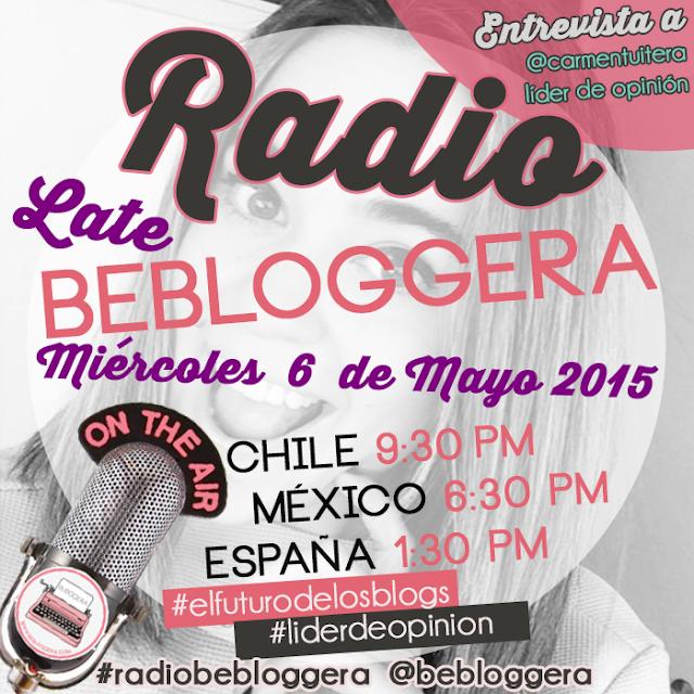 #RadioBeBloggera: Entrevista exclusiva con @carmentuitera en #elfuturodelosblogs