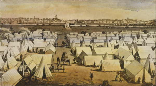 Tent Towns in California Gold Rush