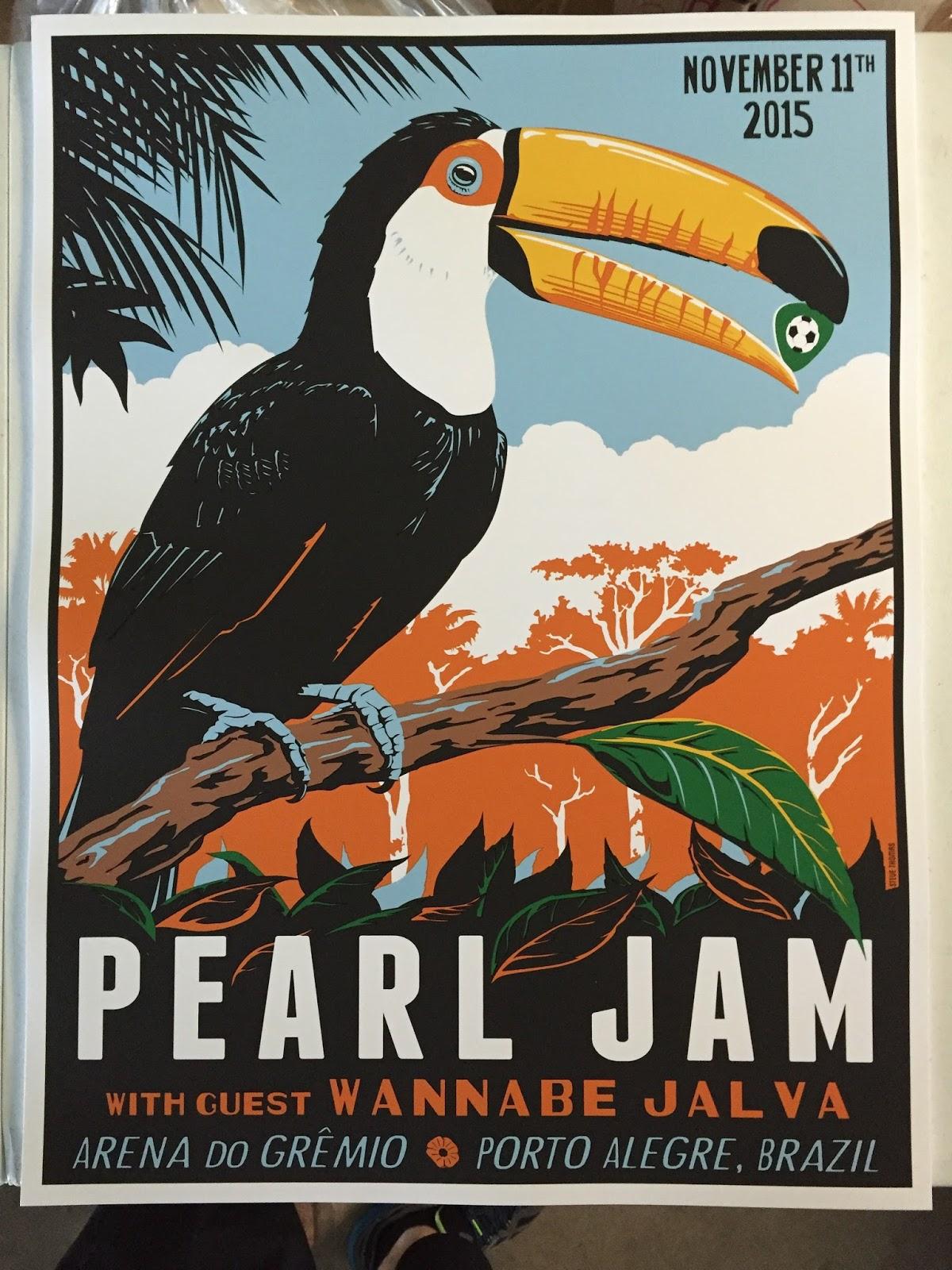 Steve thomas pearl jam porto alegre brazil poster amp artist edition on