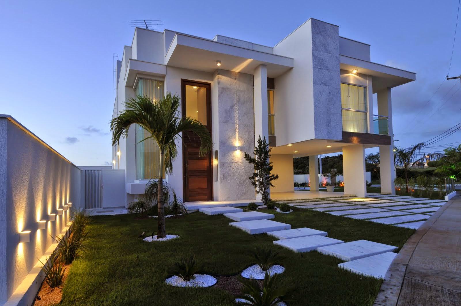20 fachadas de casas modernas com linhas retas veja - Fachadas de casas modernas planta baja ...