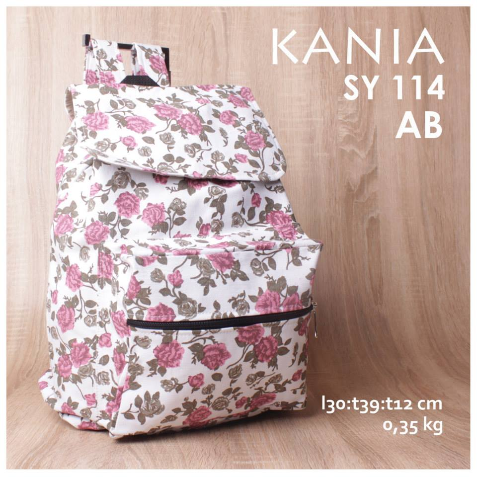 jual online tas ransel kania kanvas murah motif flower