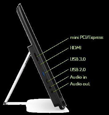 Расположение портов на правой стороне моноблока Acer Aspire Z1-601