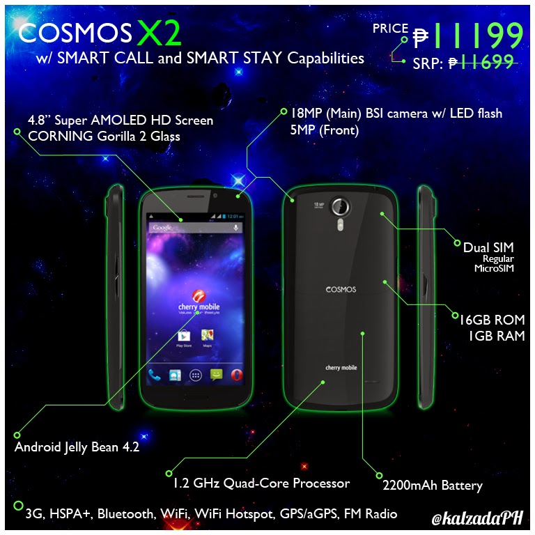 833289b4af6 Cherry Mobile Cosmos X2 Specs Price Infographic