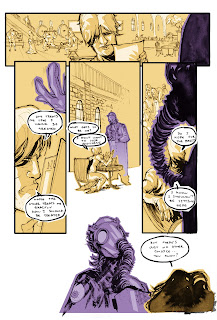 1-page comic story written, penciled, inked and colored by Bruno Oliveira