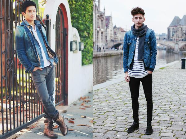 Resultado de imagem para jaqueta jeans masculina como usar