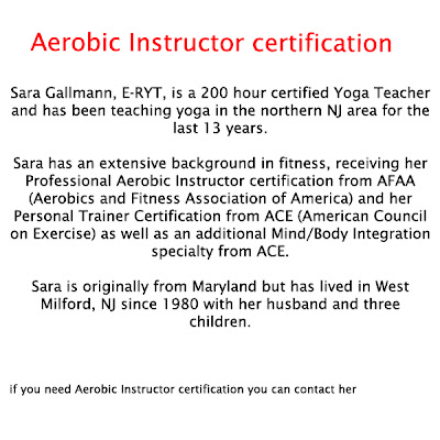 aerobic instructor certification