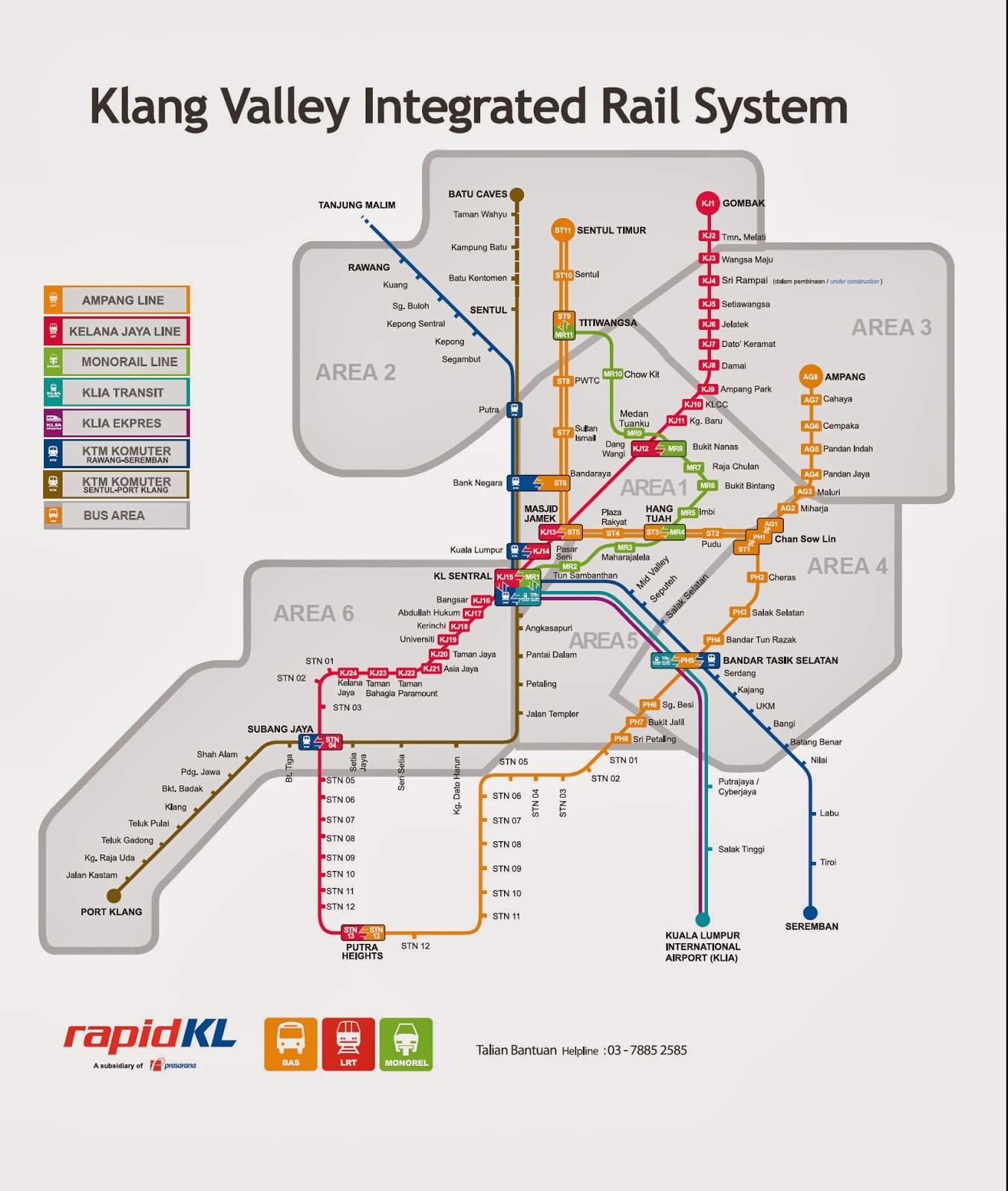 Kuala Lumpur Tourism Visit KL Sentral Integrated Train System