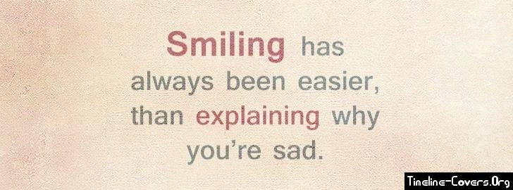 Sad Quotes With Pictures For Facebook : Smiling Sad Facebook Cover Facebook Covers
