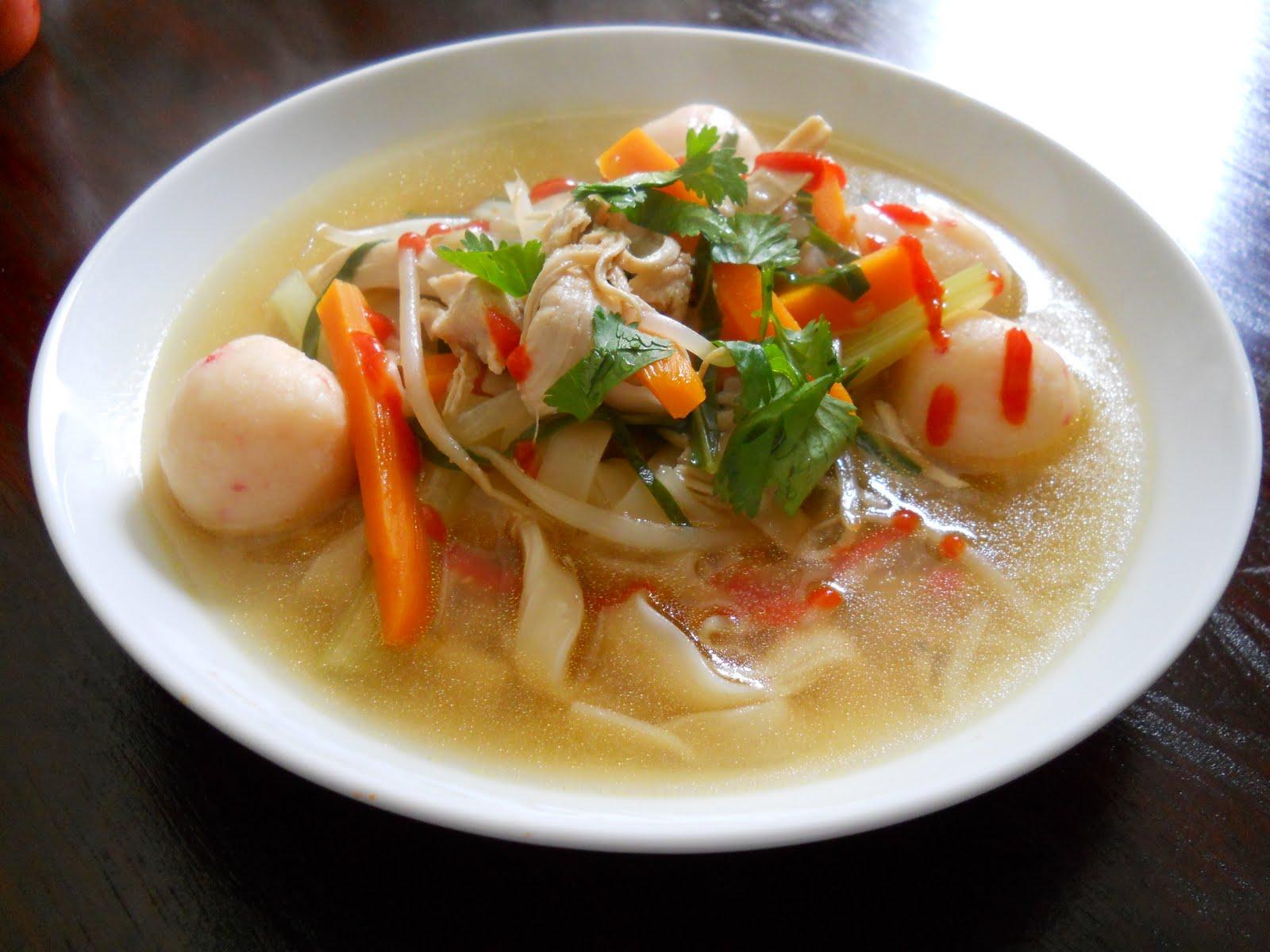 Shrimpball Pasta Soup Recipe — Dishmaps