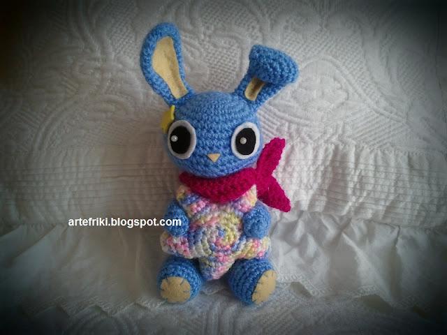 conejo amigurumi crochet ganchillo estrella doll bunny