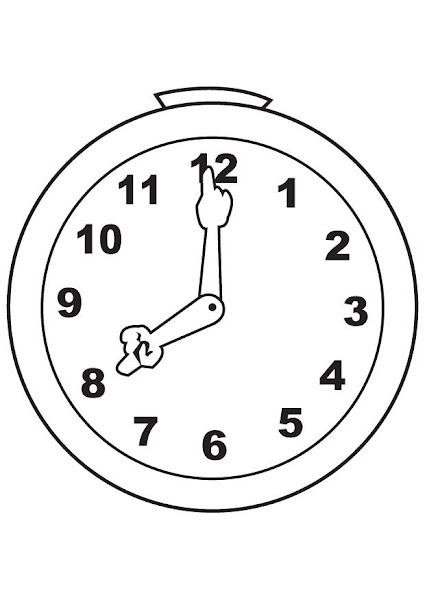 Clock Coloring Pages Printable