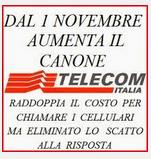 Aumento del canone Telecom