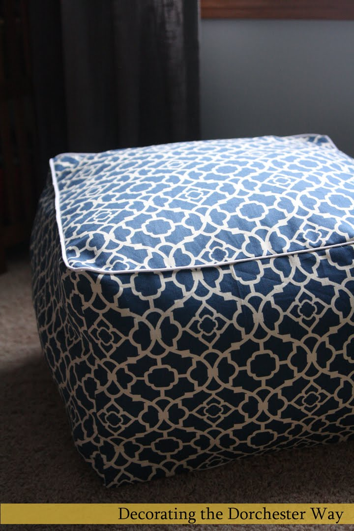 Decorating The Dorchester Way My Version Of The Pouf Custom Dosa Pouf