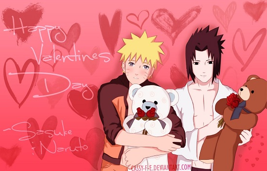 Sasuke and Naruto Valentine Gift