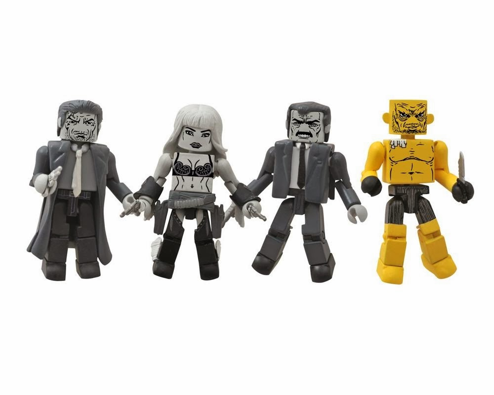 "Sin City Minimates Series 1 Box Set ""That Yellow Bastard"" - Hartigan, Nancy, Senator Roark & The Yellow Bastard"