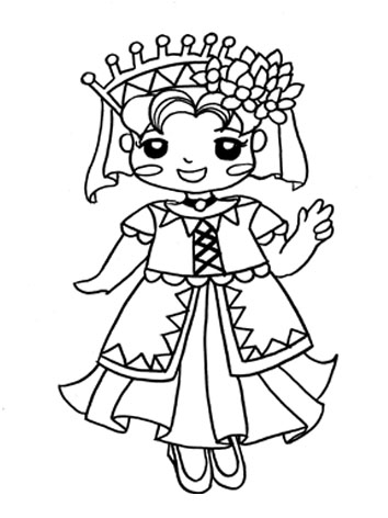 The Little Princess Coloring Pages