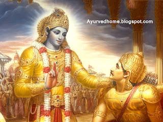 श्री कृष्णा द्वारा गीता का ज्ञान