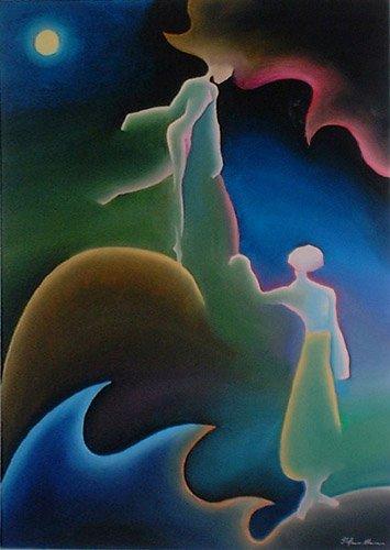 incontro amanti innamorati dipinto pittura vajra corsi incontri seminari quadro disegno pittura spirituale arte zen