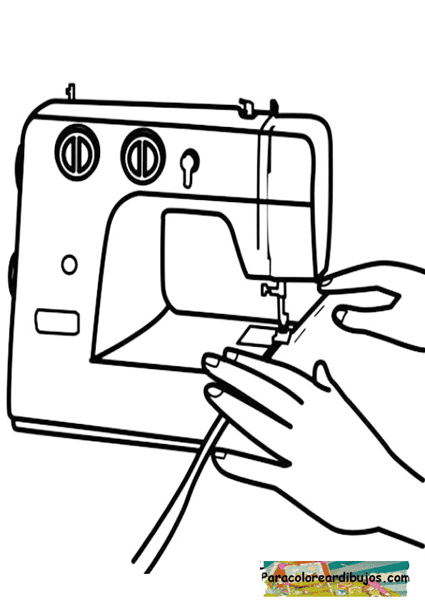 Maquina de coser para colorear
