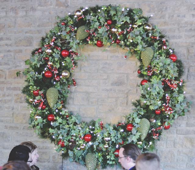 Huge Christmas wreath