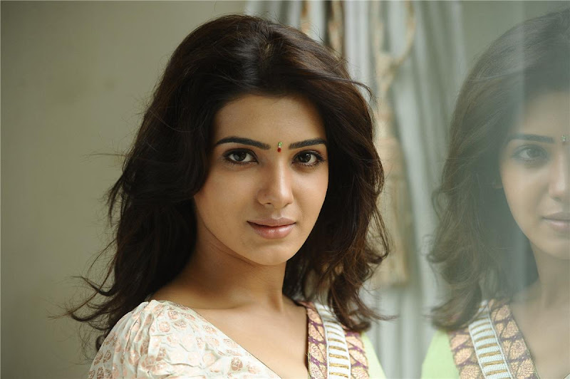 Telugu Lovely Actress Samantha Exclusive Cute Saree Stills Photoshoot images