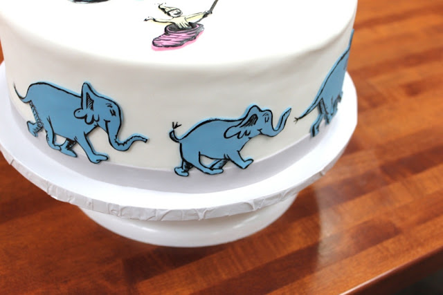 Elephant Birthday Cake decoration by Cocoa & Fig