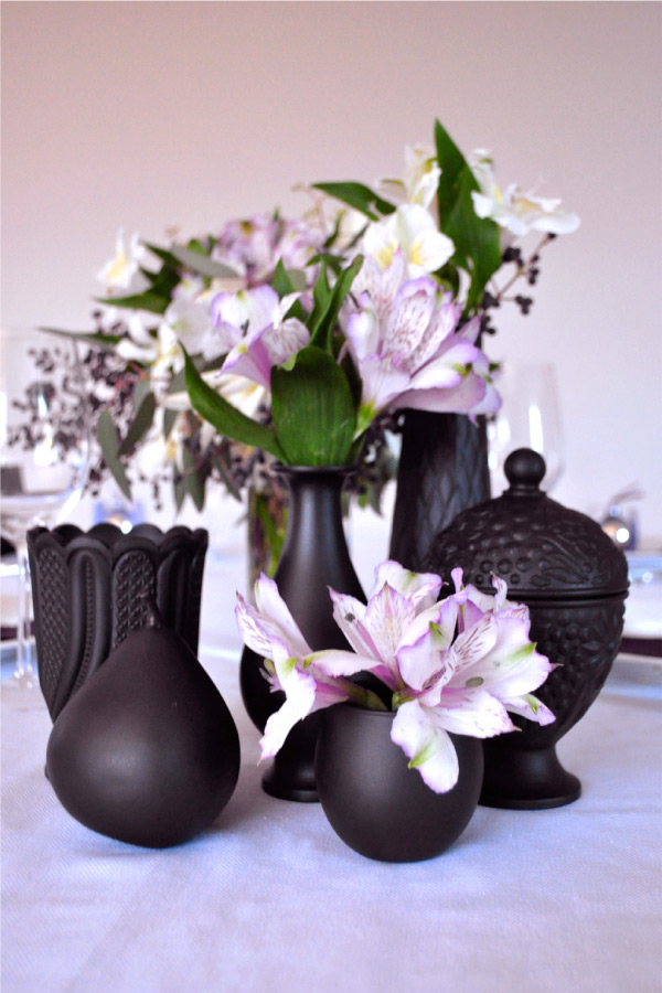 Thrift Store DIY Project: Painted Vases by Style Me Pretty