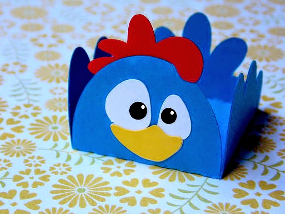 DIY Chicken Shaped Open Boxes.