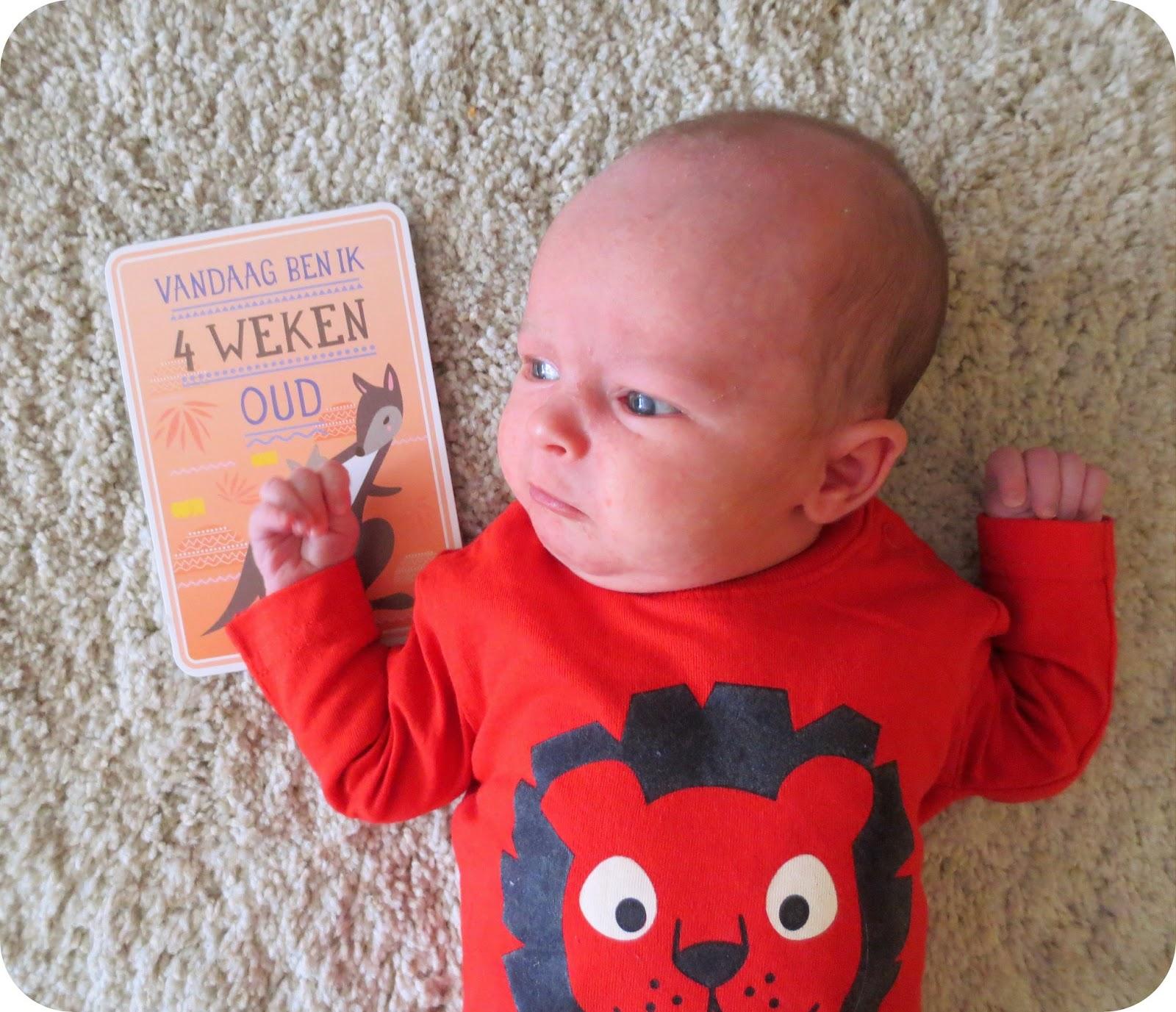 Tiene milestone baby card 4 weken - Kind oud ...