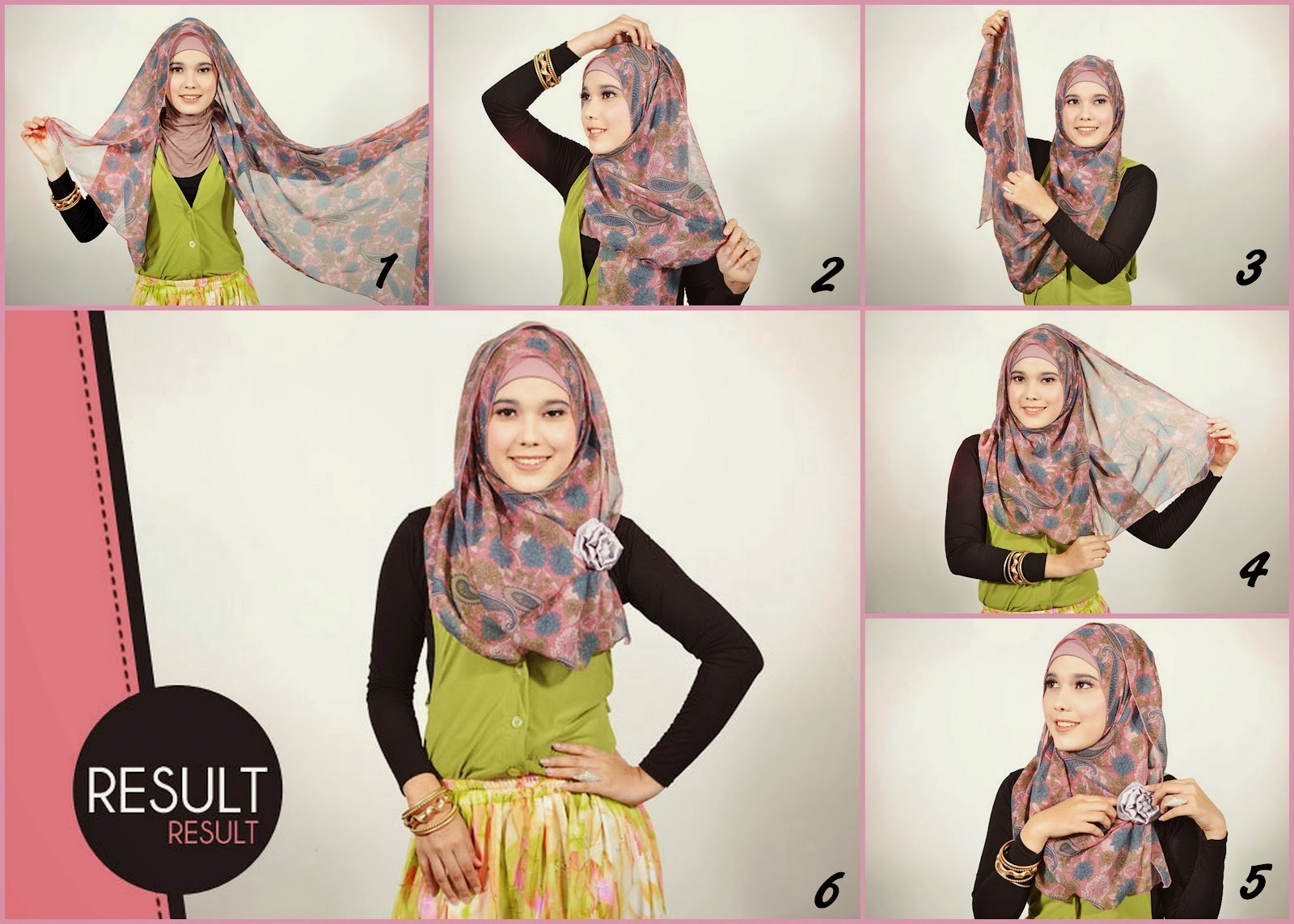 Tutorial hijab pasmina simple