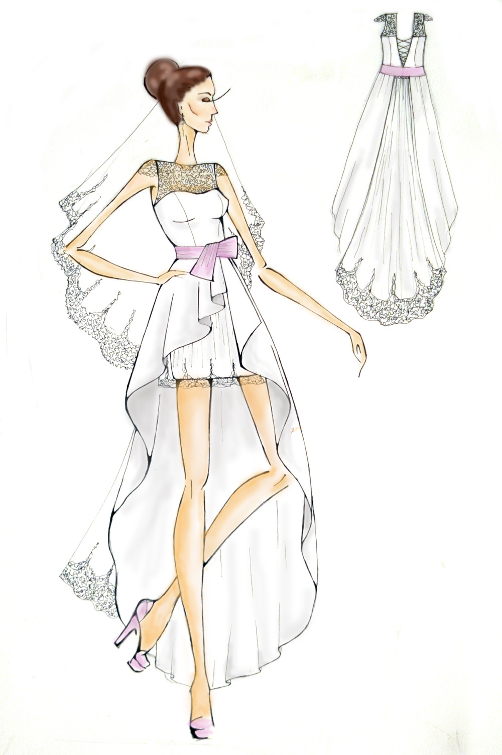 фасон трикотажного платья
