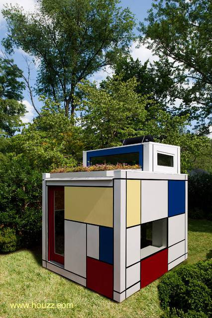 Arquitectura de Casas: Casa de juegos prefabricada para niños.