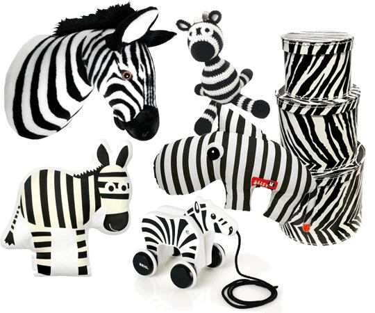 Zebra och zebrarandigt till barnrum | www.var-dags-rum.se