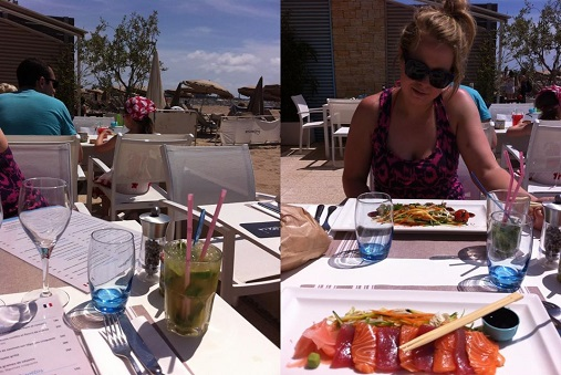Pineapple mojitos, sashimi and mi-cuit de thon at C Beach Cannes