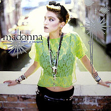 Madonna - Like A Virgin 80s single cover front