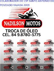 PUBLICIDADE: NADILSON MOTOS E ÓLEOS CARNAÚBA DOS DANTAS.
