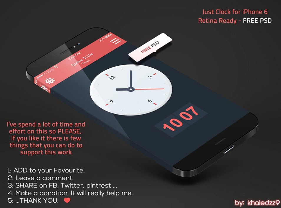 Just Clock for iPhone 6 Retina Ready
