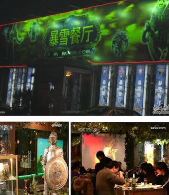 World of Warcraft restaurant in Beijing