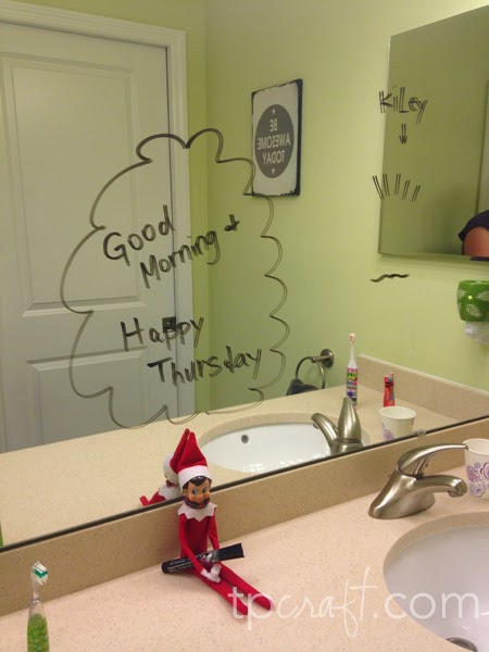 Elf on the shelf for Elf on the shelf bathroom ideas