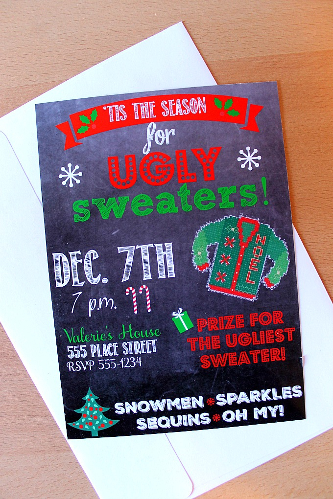 Ugly Sweater Party Printable Invitation