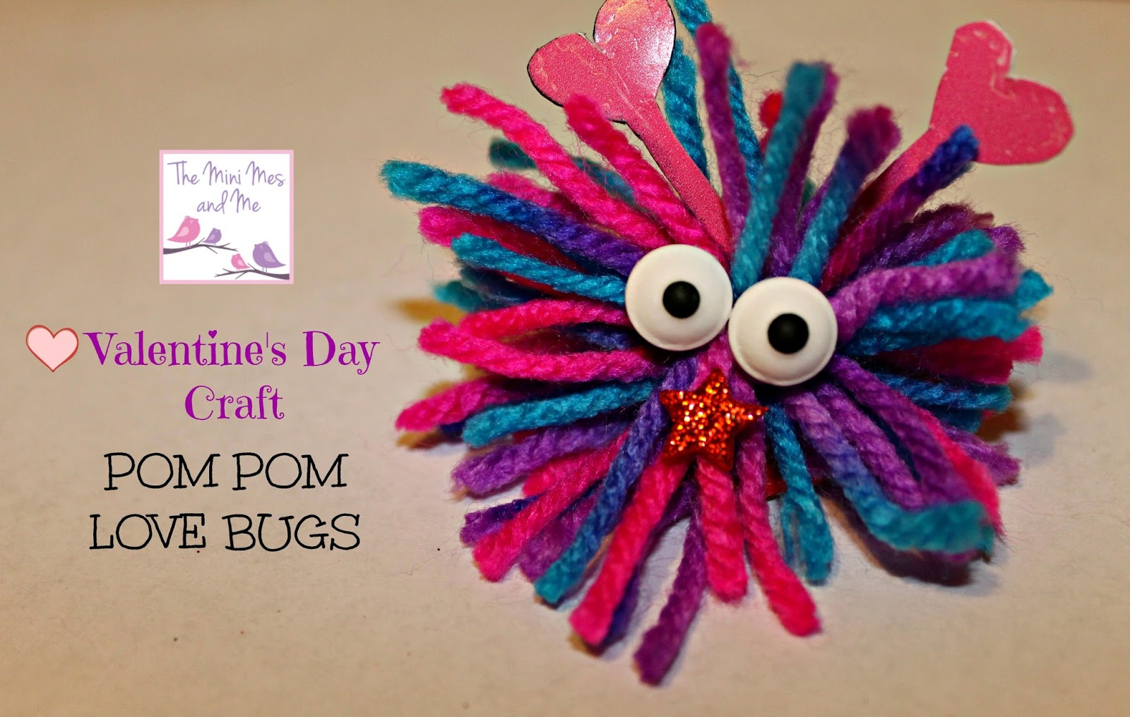 Valentine love bug craft - Valentine S Day Is Just Around The Corner And These Cute And Lovable Pom Poms Are Actually Really Simple To Create We Made Some As Key Rings And Bag