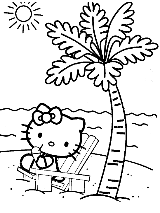 Hello Kitty va a la playa : Locos por Hello Kitty