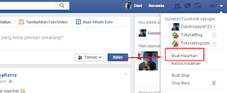 Halaman Fanspage FaceBook