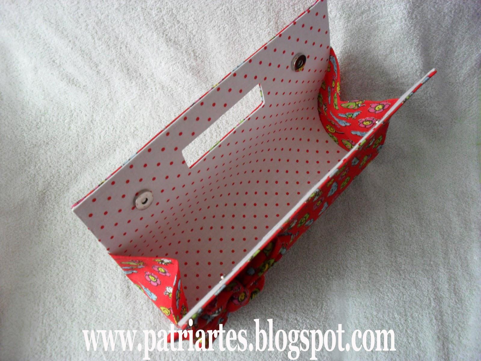 Bolsa Em Cartonagem Medidas : Patri artes bolsa em cartonagem